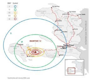 carte du séisme